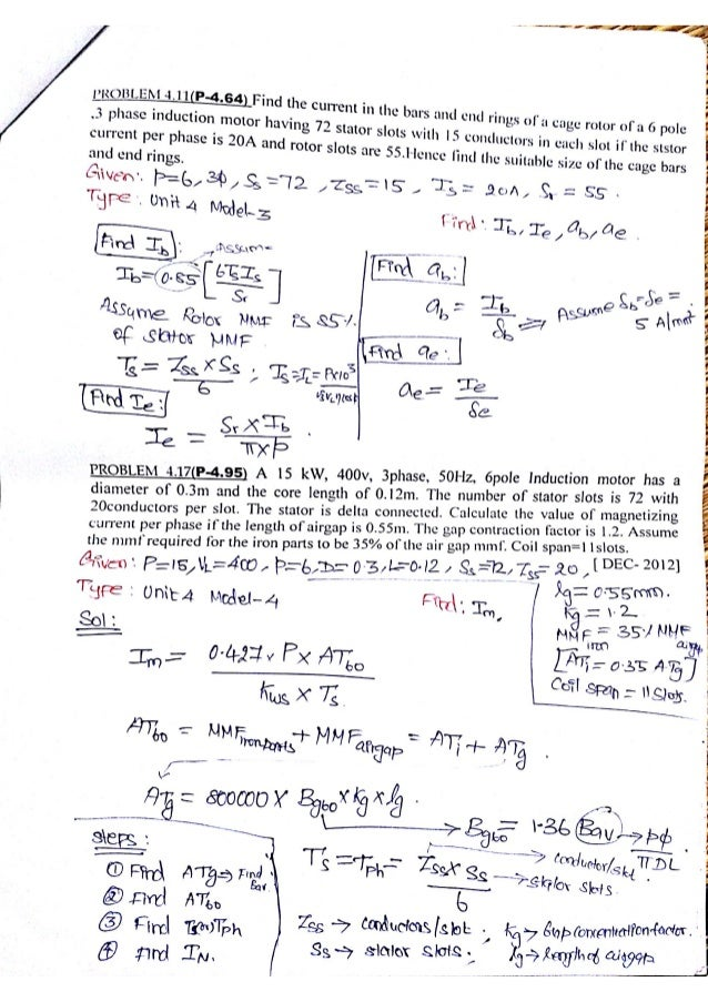 Design of Electrical Machines Problems & Solutions
