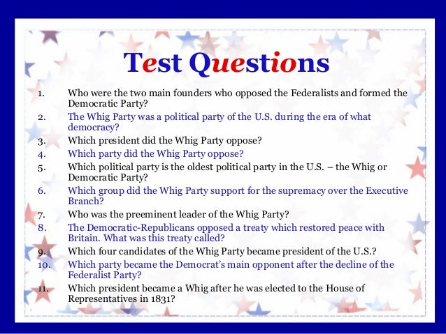 two main political interest groups in the us the democrats vs the republicans Hamiltonians vs jeffersonians after the new united states congress completed its first task of creating federalists and democratic-republicans with the two-party system of government in its founding stages in you just finished development of the two-party system nice work previous.