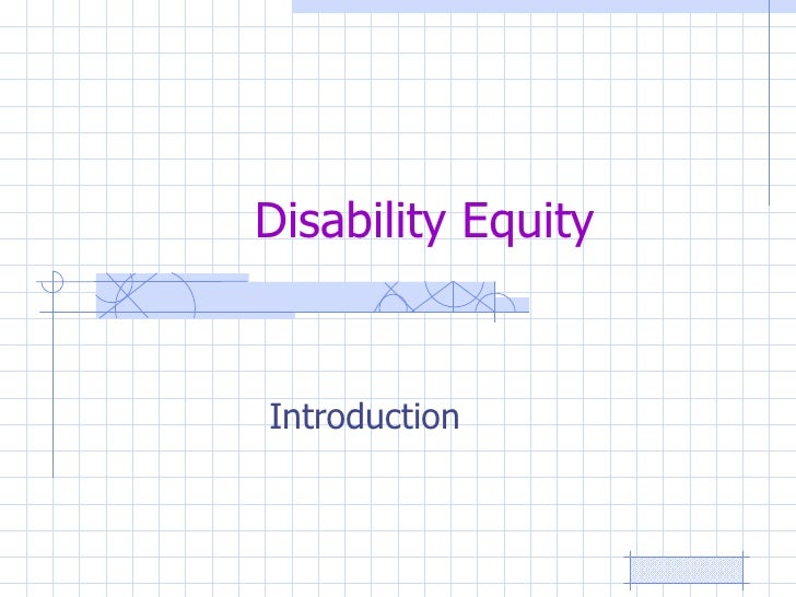 Disability Equity Introduction
