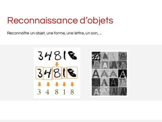 Reconnaissance d'objets Reconnaître un objet, une forme, une lettre, un son, ...