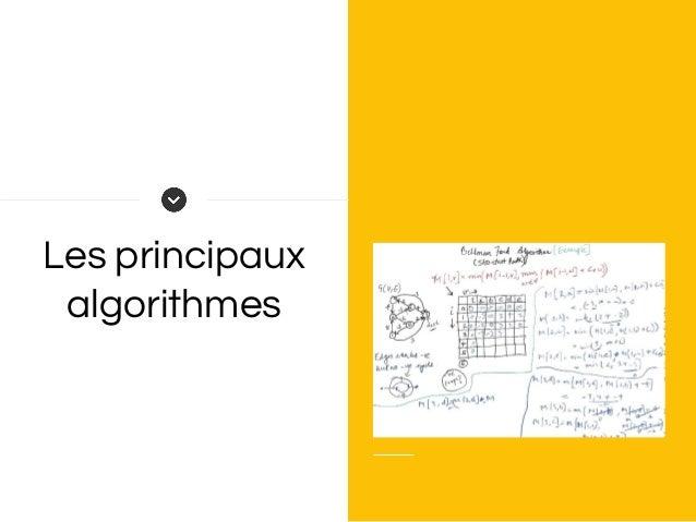Les principaux algorithmes