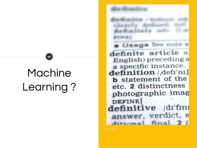 Machine Learning ?