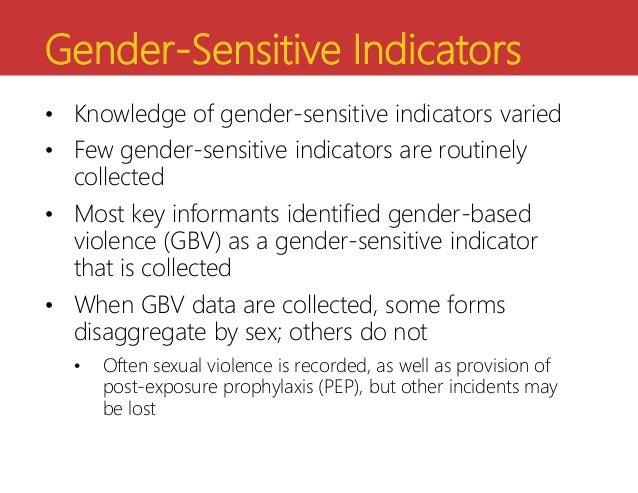 Gender-Sensitive ...