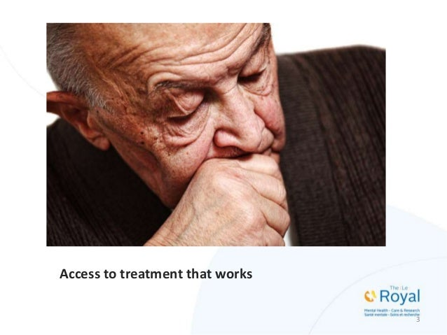 Access to treatment that works 3 Insert photo of elderly woman here