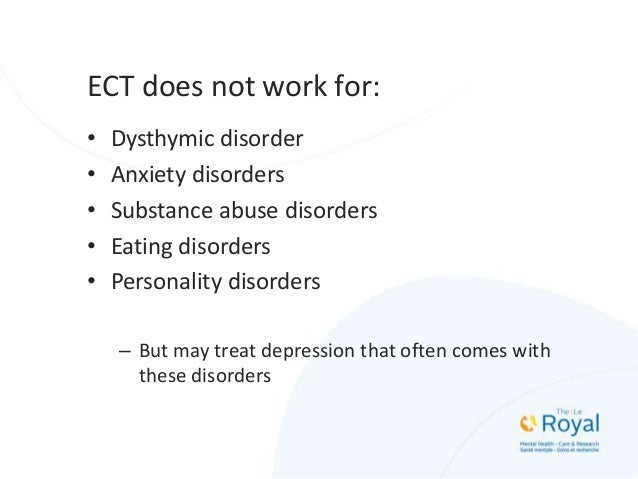 ECT in Major Depression • 80-90% remission rate (vs 60-70% with medications • Catatonic features and delusions are associa...