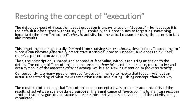 demystifying execution