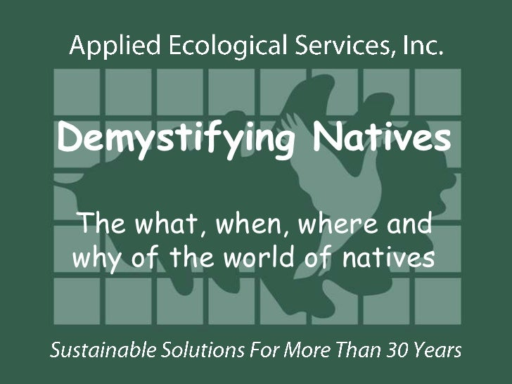 Demystifying NativesThe what, when, where andwhy of the world of natives
