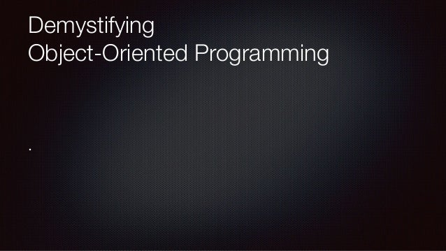 Demystifying