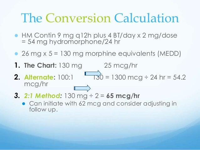Demystifying Opioid Rotation Calculations V
