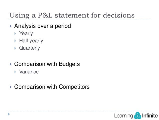 Demystifying profit and loss statement webinar – Pl Statement