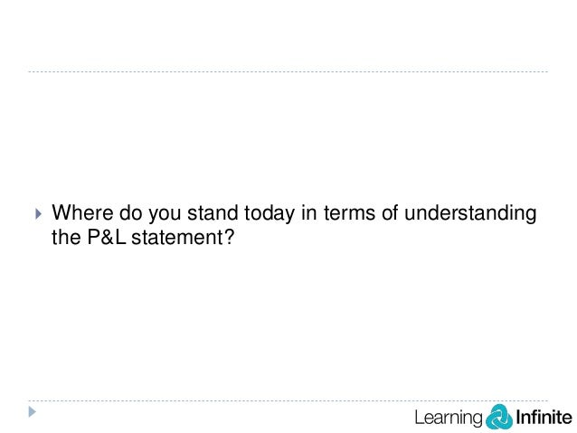 what is p and l statement