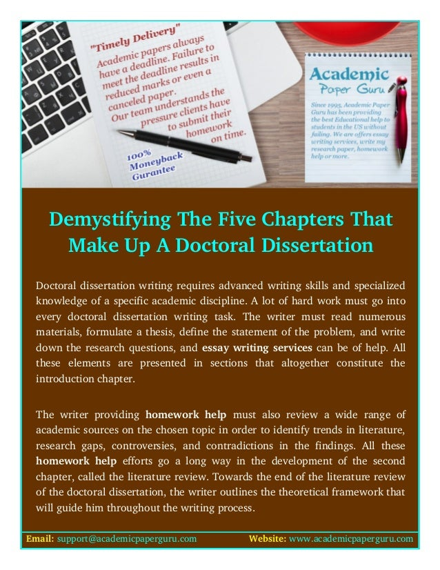 Demystifying the dissertation writing