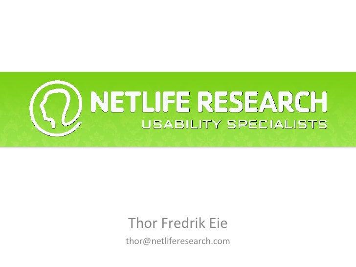 Thor Fredrik Eie [email_address]