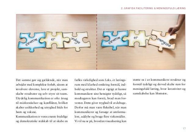 17  2. GRAFISK FACILITERING & MENINGSFULD LÆRING  Det samme gør sig gældende, når man arbejder med komplekse forløb, såsom...