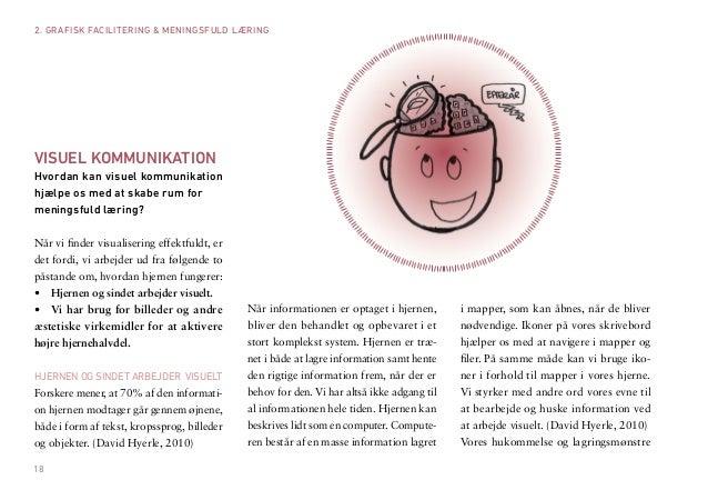 18  VISUEL KOMMUNIKATION  Hvordan kan visuel kommunikation hjælpe os med at skabe rum for  meningsfuld læring?  Når vi fin...