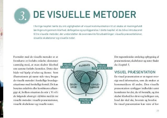 25  Formålet med de visuelle metoder er at  fremhæve et forløbs enkelte elementer  samtidig med, at man skaber klarhed  om...