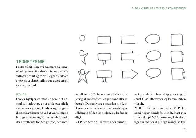 53  5. DEN VISUELLE LÆRERS 4 KOMPETENCER  TEGNETEKNIK  I dette afsnit kigger vi nærmere på tegneteknik gennem fire vinkler...