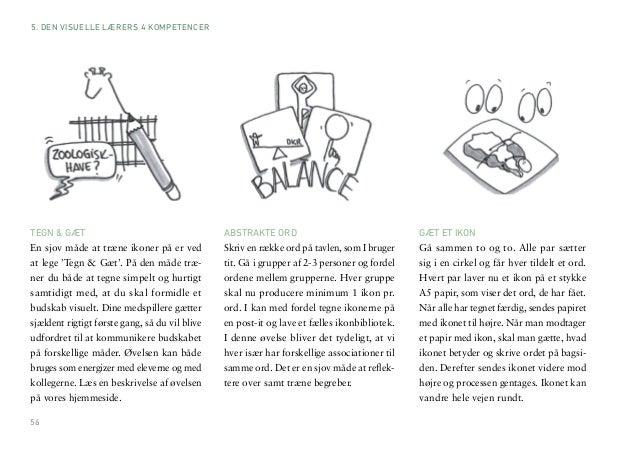 56  TEGN & GÆT  En sjov måde at træne ikoner på er ved  at lege 'Tegn & Gæt'. På den måde træ-ner  du både at tegne simpel...