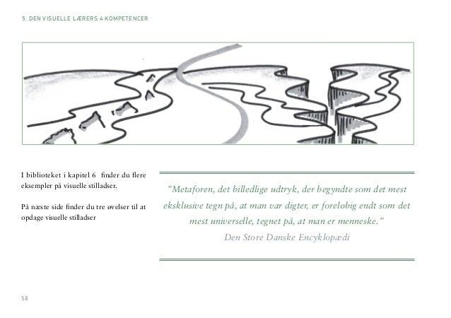 58  I biblioteket i kapitel 6 finder du flere  eksempler på visuelle stilladser.  På næste side finder du tre øvelser til ...