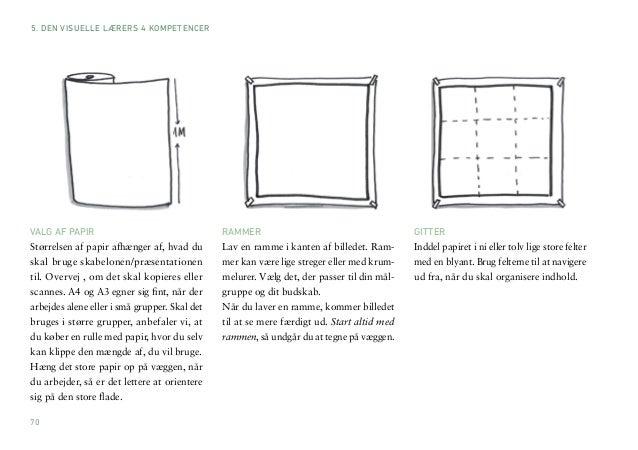 70  VALG AF PAPIR  Størrelsen af papir afhænger af, hvad du  skal bruge skabelonen/præsentationen  til. Overvej , om det s...
