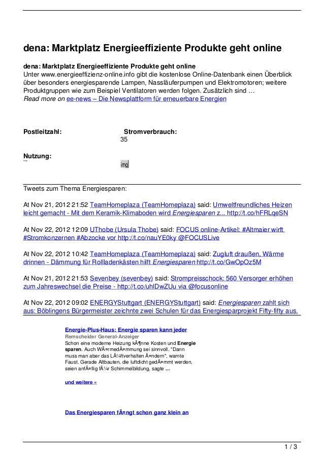dena: Marktplatz Energieeffiziente Produkte geht onlinedena: Marktplatz Energieeffiziente Produkte geht onlineUnter www.en...