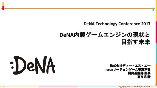 Copyright (C) DeNA Co.,Ltd. All Rights Reserved.Copyright (C) DeNA Co.,Ltd. All Rights Reserved. DeNA Technology Conferenc...