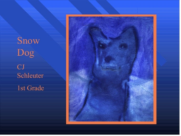 Snow Dog CJ Schleuter 1st Grade