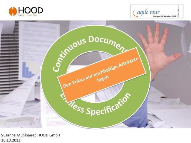 statt Susanne Mühlbauer, HOOD GmbH 16.10.2013