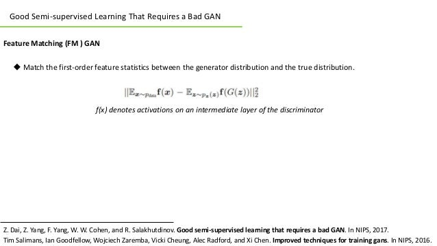 Review of Good Semi-supervised Learning That Requires a Bad GAN Slide 2