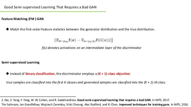 Review of Good Semi-supervised Learning That Requires a Bad GAN Slide 3