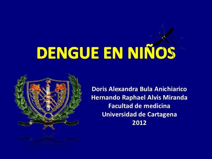 Doris Alexandra Bula AnichiaricoHernando Raphael Alvis Miranda      Facultad de medicina   Universidad de Cartagena       ...