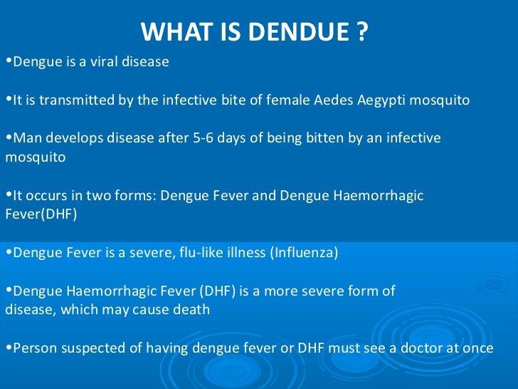 dengue tagalog lecture