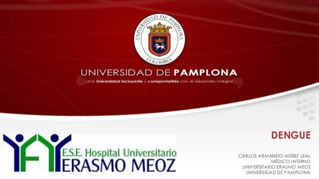DENGUE CARLOS ARMANDO NÚÑEZ LEAL MÉDICO INTERNO UNIVERSITARIO ERASMO MEOZ UNIVERSIDAD DE PAMPLONA