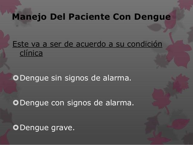 • Manejo Del Dengue
