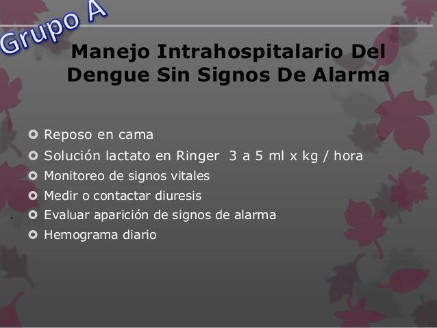Dengue Con Signos De Alarma Del Dengue  Dolor abdominal intenso y continuo, o dolor a la palpación del abdomen  Vómitos ...