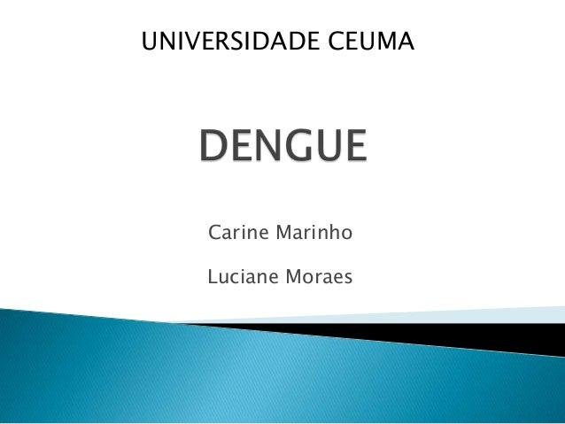 Carine Marinho Luciane Moraes UNIVERSIDADE CEUMA