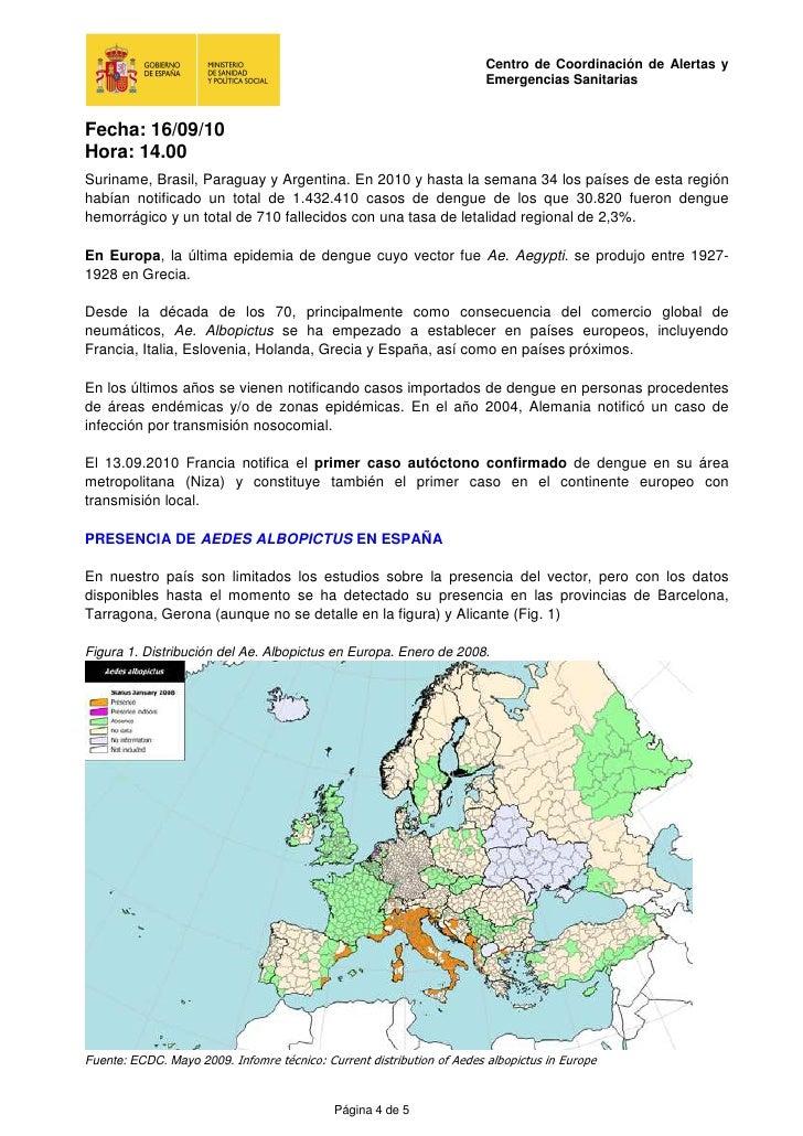 Dengue: situació a 16- 09- 2010