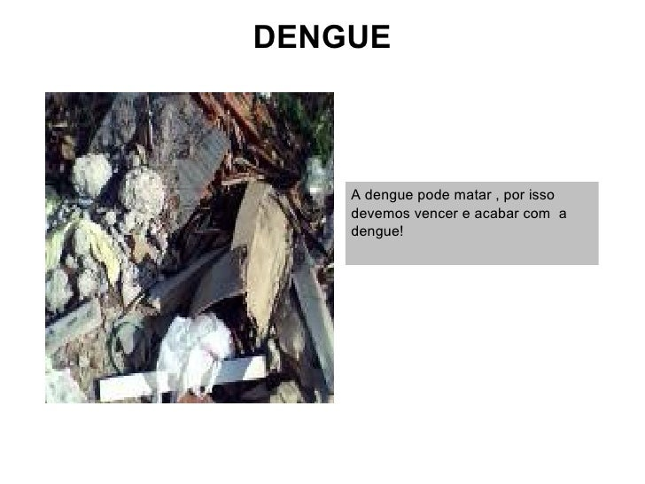 DENGUE    A dengue pode matar , por isso    devemos vencer e acabar com a    dengue!