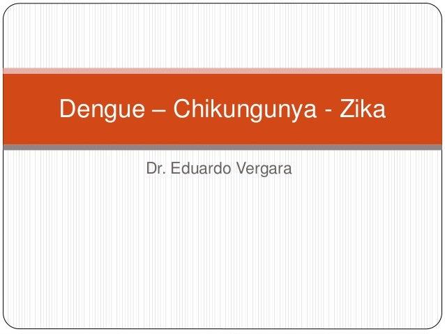 Dr. Eduardo Vergara Dengue – Chikungunya - Zika