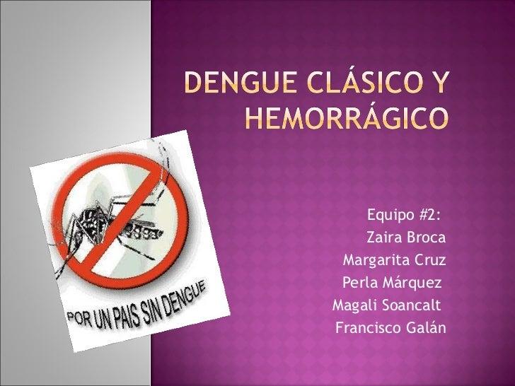 Equipo #2:  Zaira Broca Margarita Cruz Perla Márquez  Magali Soancalt  Francisco Galán