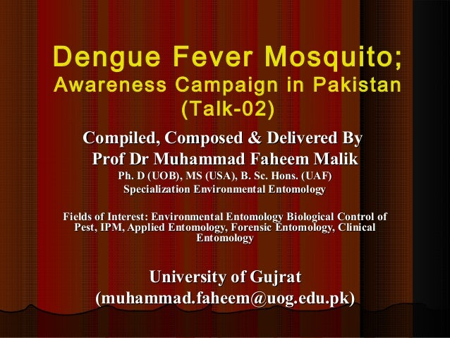 dengue feeling sick reports for pakistan