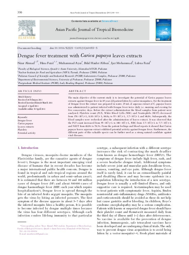 330                                                       Asian Pacific Journal of Tropical Biomedicine (2011)330-333     ...