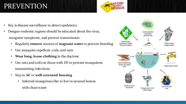 PREVENTION  • Key is disease surveillance to detect epidemics  • Dengue-endemic regions should be educated about the virus...