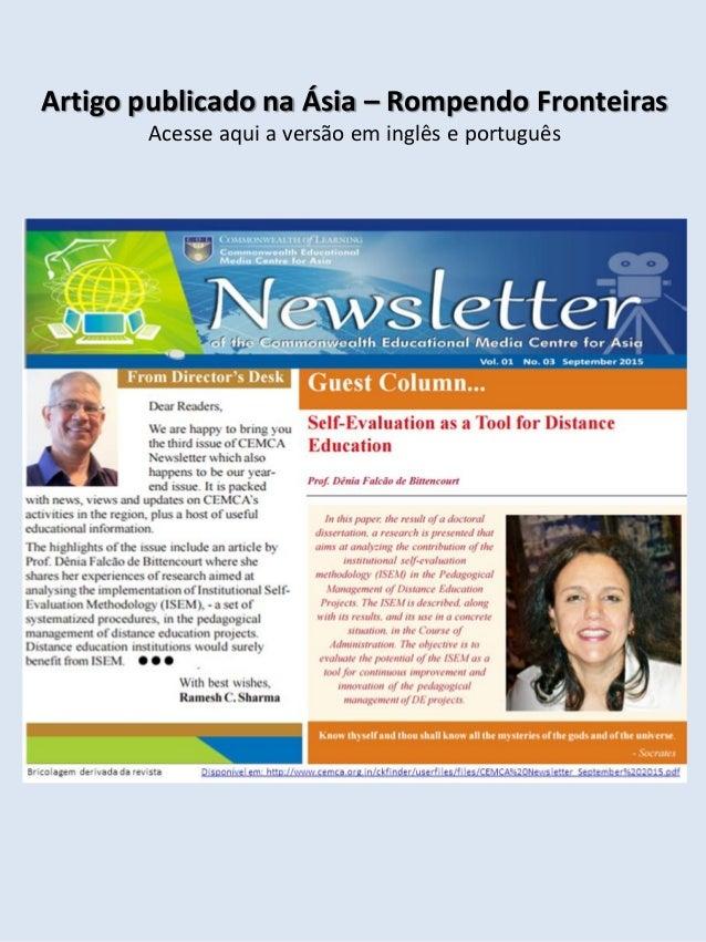 Artigo publicado na Ásia – Rompendo Fronteiras Acesse aqui a versão em inglês e português
