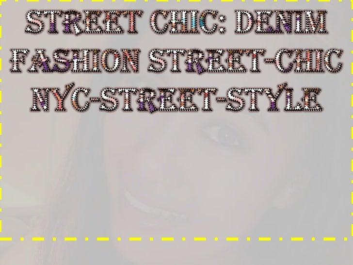 Denim check fashion