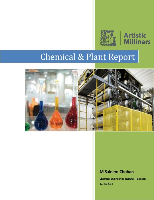 M Saleem Chohan Chemical Engineering NEDUET, Pakistan 12/20/2013 Chemical & Plant Report