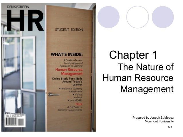 Copyright © 2012 by Cengage Learning. All rights reserved. 1- 1 Chapter 1 The Nature of Human Resource Management Prepared...