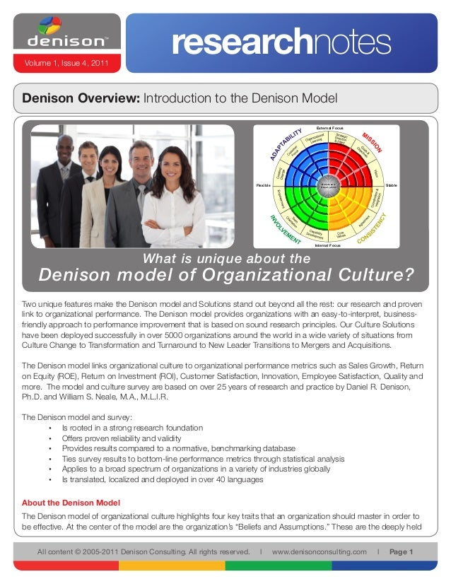 Volume 1, Issue 4, 2011                                            researchnotesDenison Overview: Introduction to the Deni...