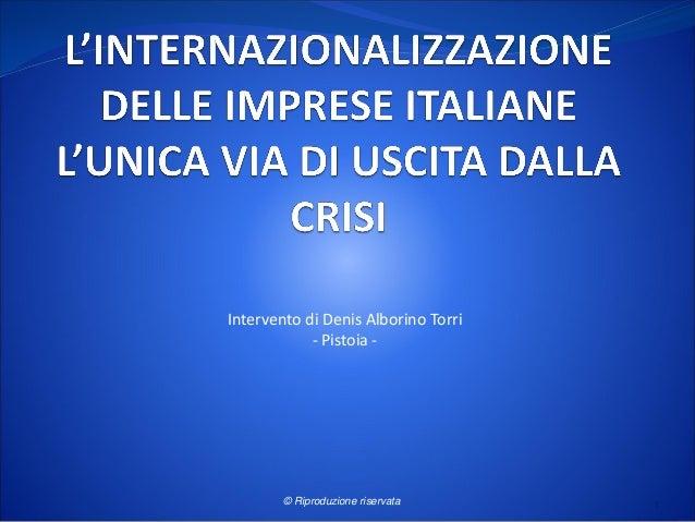 Intervento di Denis Alborino Torri - Pistoia - © Riproduzione riservata 1