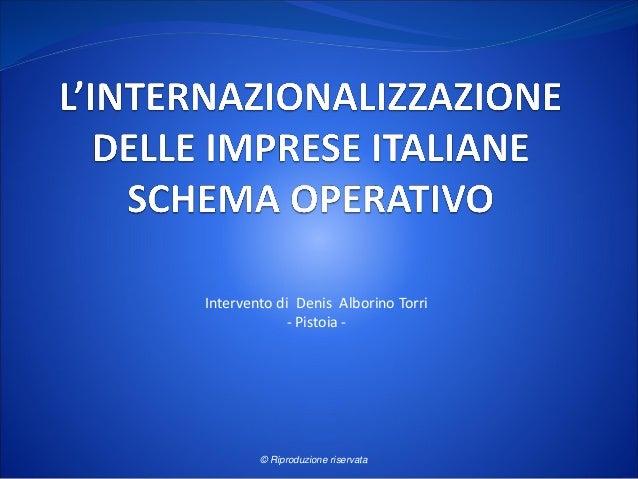 Intervento di Denis Alborino Torri - Pistoia - © Riproduzione riservata